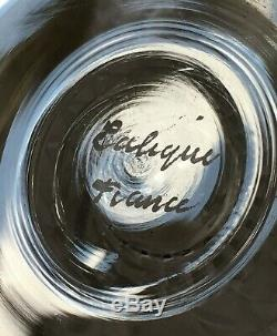 Rene Lalique Bourgueil 6 Wine Glasses 6 Verre A Vin Cristal Taillé Art Deco 1930