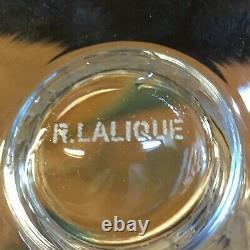 Rene Lalique Bourgueil 6 Wine Glasses Verre A Vin Cristal Taillé Art Deco 1930 C