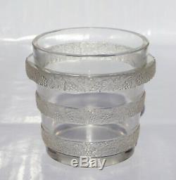 René Lalique Rare Vase RIQUEWIHR Lave-Raisins Verre soufflé Moulé Art Déco