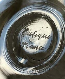 Rene Lalique Reims Flat Tumbler Wine Glasses Verre Gobelet A Vin Cristal Taillé