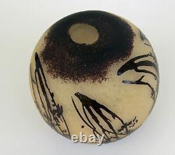 SCHNEIDER (1881-1953) Vase Boule Verre Multicouche Gravé Acide Art Déco ca 1930
