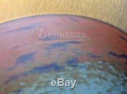 SCHNEIDER-Le verre Français vasque pate de verre art deco, daum, muller, delatte