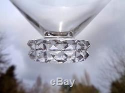 Saint Louis Diamant 6 Wine Crystal Glasses Verres A Vin Cristal Taillé Art Deco