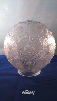 Simonet Frères, Suspension Boule Art Deco vers 1930