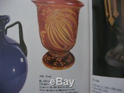 Splendide suspension en verre art déco 1920 avec motif dégagé à l'acide Deveau