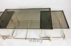 Superbe Table Basse En Bronze De La Maison'jansen (1950/70) Avec Ses 2 Tables