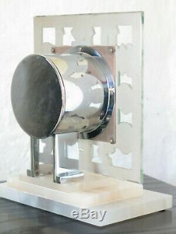 Superbe pendule ATO miroir verre Lalique chromée (no Bulle clock, brillié)