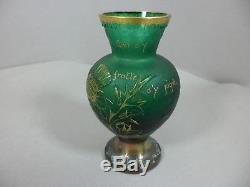 Superbe rare vase Daum Nancy FRANCE pâte de verre glass Art Déco Art Nouveau