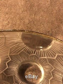 Suspension Soleil Verre Rene Lalique R. Lalique Sun Chandelier Glass