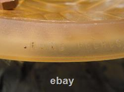 Suspension lustre pâte de verre Ranc Frères France d'époque Art Déco vers 1930