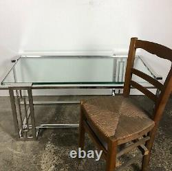 Table basse New York style art déco en alu chromé