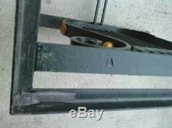 Table fer forgé dalle de verre iron coffee glass style art deco