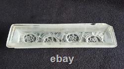 Trés beau verre d'applique Art Déco DEGUE en verre pressé moulé 1930 fleurs