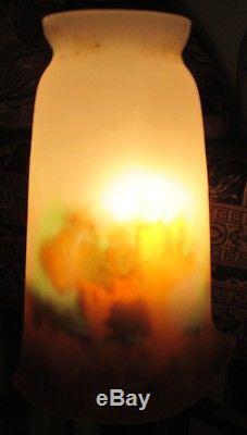 Tulipe Muller frères Lunéville pate de verre ART DECO NOUVEAU pour lampe lustre