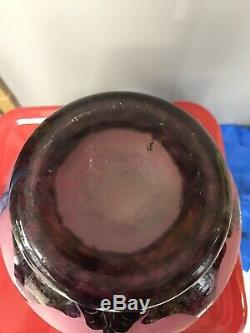 VASE LE VERRE FRANCAIS signé art déco dégagé à l'acide schneider charder daum