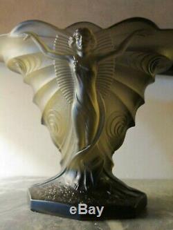 Vase ART DECO Walther Sohne (1935) Décor Femme/Papillon