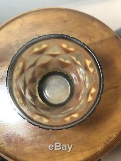 Vase A Palmettes Gabriel Argy-Rousseau Art Deco Glass Pate De Verre