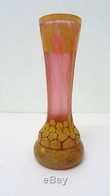 Vase Art déco Verrerie Schneider le Verre Français