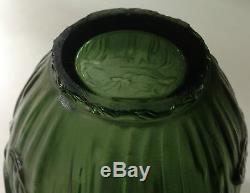 Vase En Verre Soufflé Moulé Insectes Hannetons Verlys Art Déco 1930