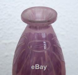 Vase Pâte de Verre SCHNEIDER LE VERRE FRANCAIS Art Déco décor Dalhias