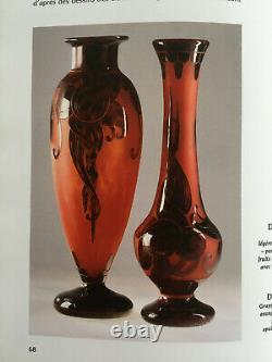 Vase Schneider décor prune vers 1924 LE VERRE FRANCAIS art déco