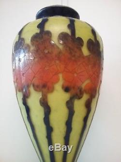 Vase en Pâte de Verre Schneider LE VERRE FRANCAIS art deco daum gallé lalique