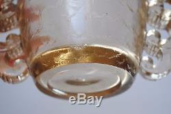 Vase en verre moulé Art Déco Pierre D'AVESN pour Daum Ecailles Anses Crochets