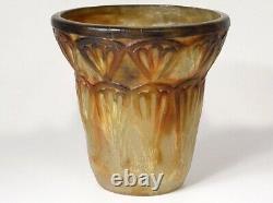 Vase pâte de verre G. Argy-Rousseau feuilles palmiers palmes Art Déco XXème