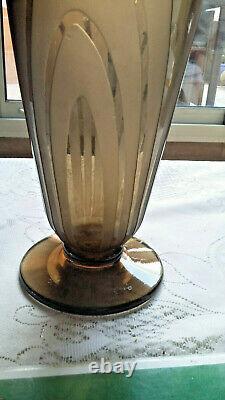 Vase signé CHARDER Le Verre Français art déco 1910/1930 pièce unique