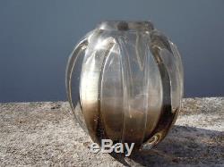 Vase verre Schneider d'époque Art Deco