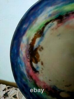 Vasque En Pate De Verre Marmoreen Art Deco Muller Freres Luneville
