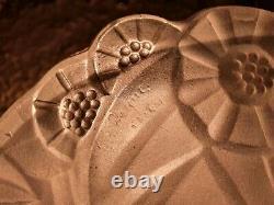 Vasque festonnée pour lustre suspension lampe champignon art déco signée Degué