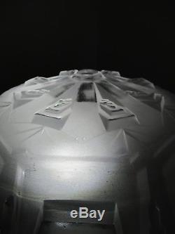Vasque non percée pour lustre lampe verre pressé moulé Art Déco Muller Frères