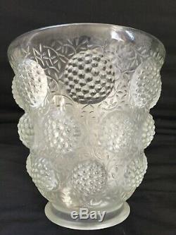 Verlys, vase en verre Art deco modèle les cabochons