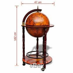 VidaXL Bois Support de Vin sous Forme de Globe Porte-bouteille Porte-verre