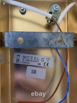 Vintage Paire De Lampes Appliques Métal-verre-design 70 80 Art Déco