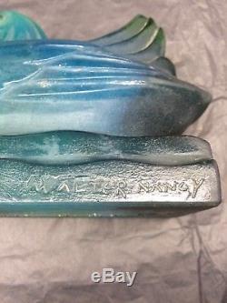 Walter Almaric Veilleuse Pâte De Verre Ancienne Nancy